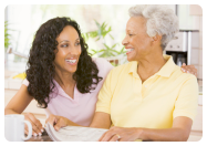caregiver and a female senior